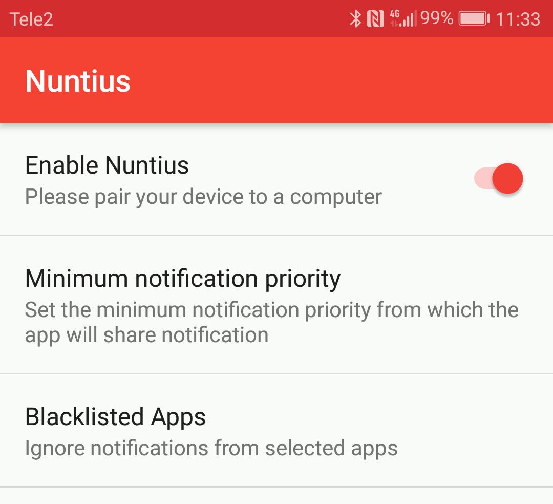 Nuntius на Android